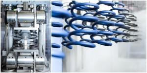 Business - Fotografie Messgerät und Stoßdämpfer in der Beschichtungsanlage