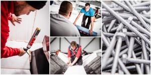 Business - Fotografie eines Handwerksbetriebes auf einer Baustelle